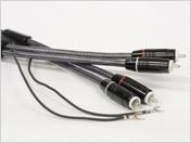 фоно кабель IKEDA, двужильный экранированный с коннекторами RCA